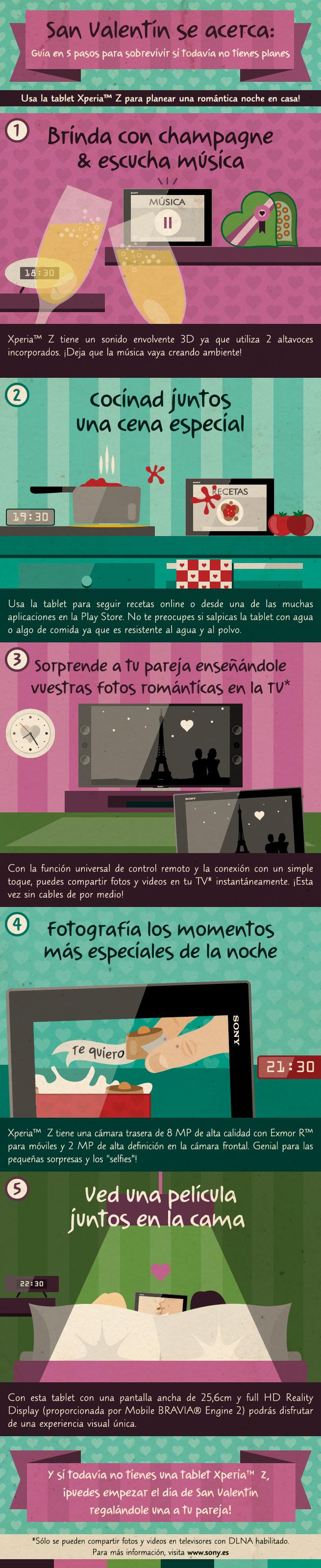 Guía para sobrevivir San Valentín - Infográfico
